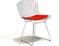 Bertoia Side Chair With Seat Cushion - hivemodern.com
