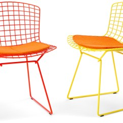 Orange Side Chair Black Covers For Sale Bertoia With Seat Cushion Hivemodern Com