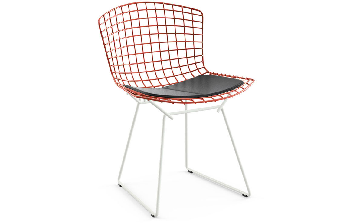 bertoia wire chair original turquoise patio cushions two tone side with seat cushion hivemodern com