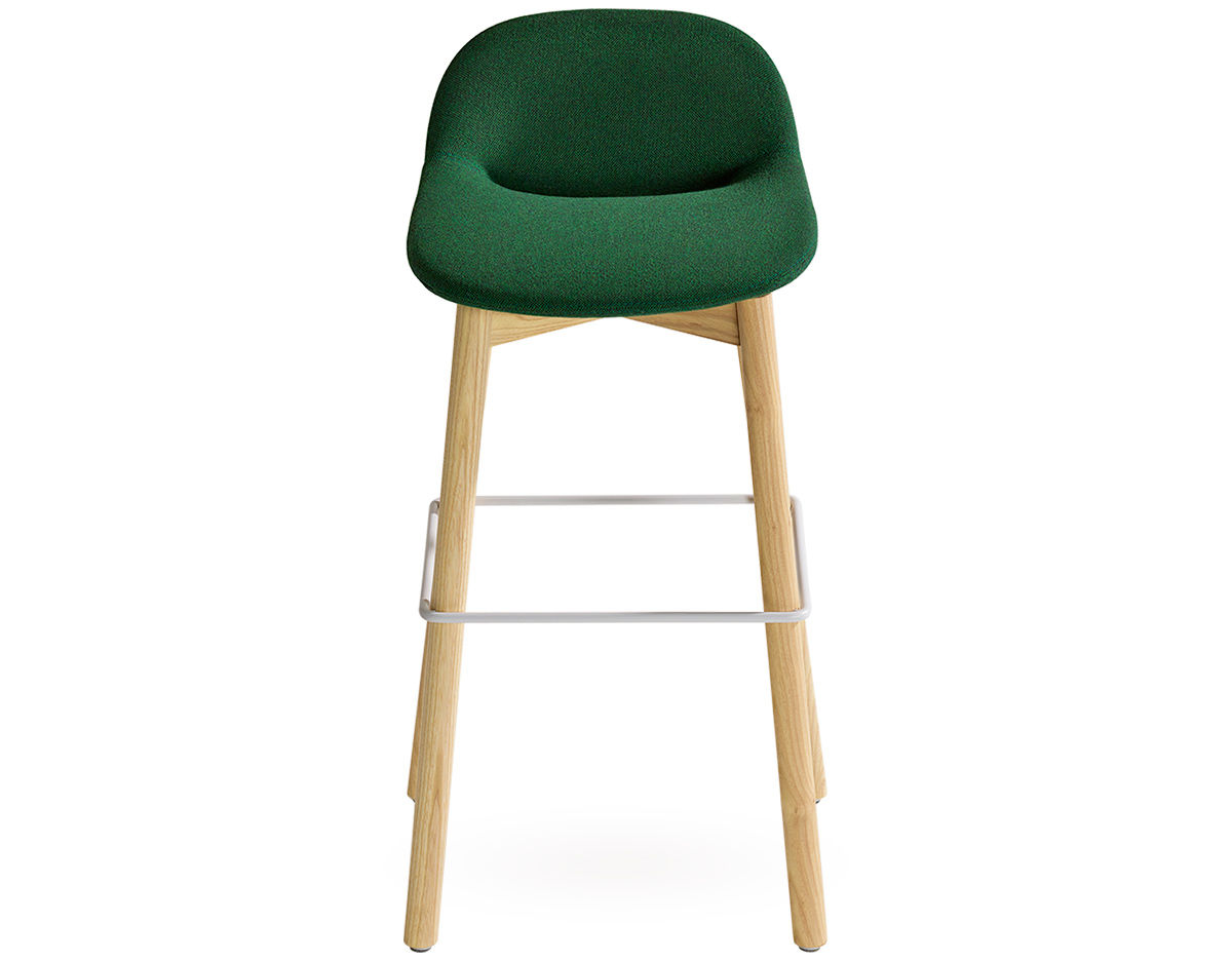 wood stool chair design barrel chairs swivel beso leg hivemodern com