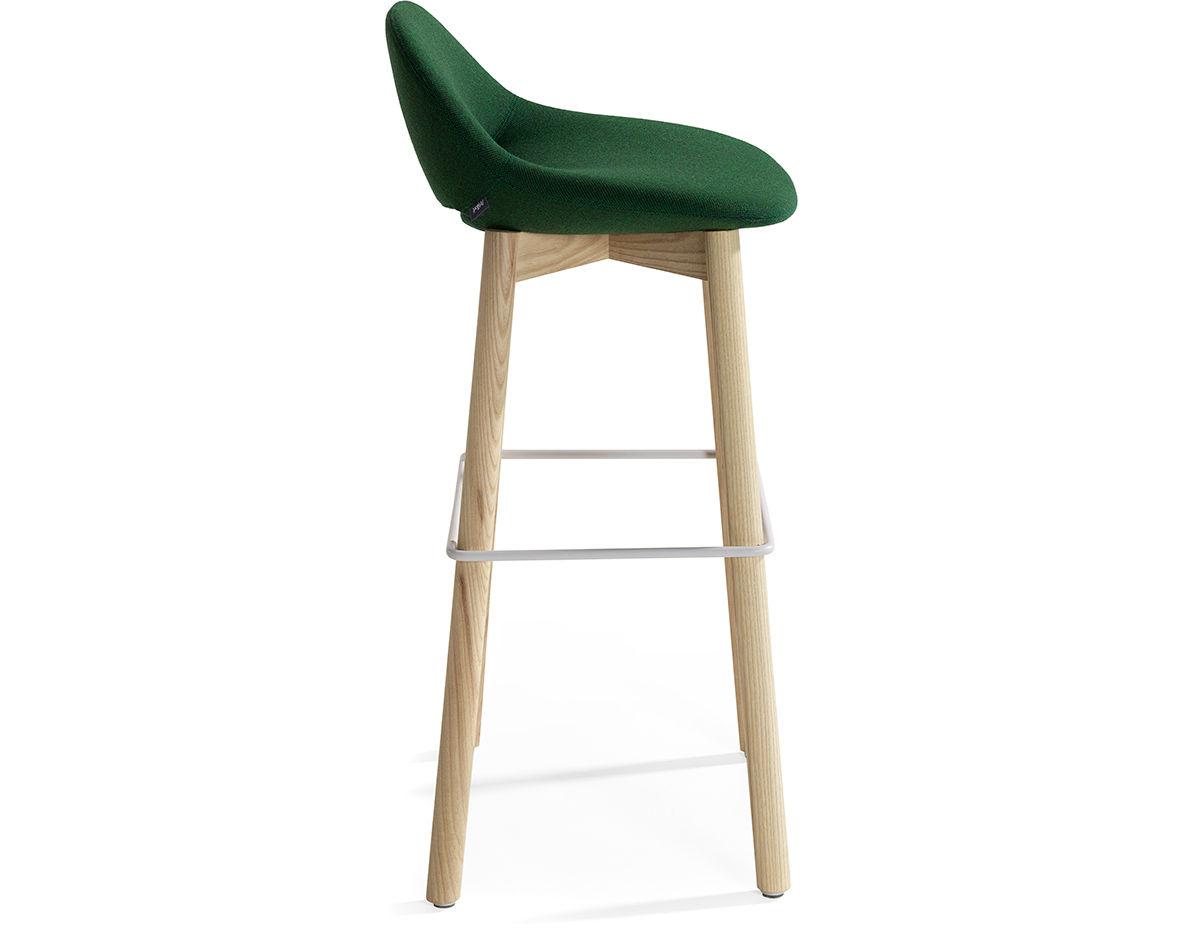 bar stool chair legs yellow covers beso wood leg hivemodern