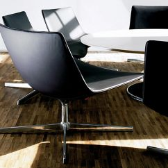 All Modern Leather Dining Chairs Best Office Chair For Short Person Catifa 80 Lounge With Pedestal Base - Hivemodern.com