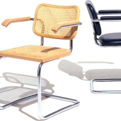 Marcel Breuer Cesca Chair With Armrests Doll High Chairs Cane Seat Hivemodern Com