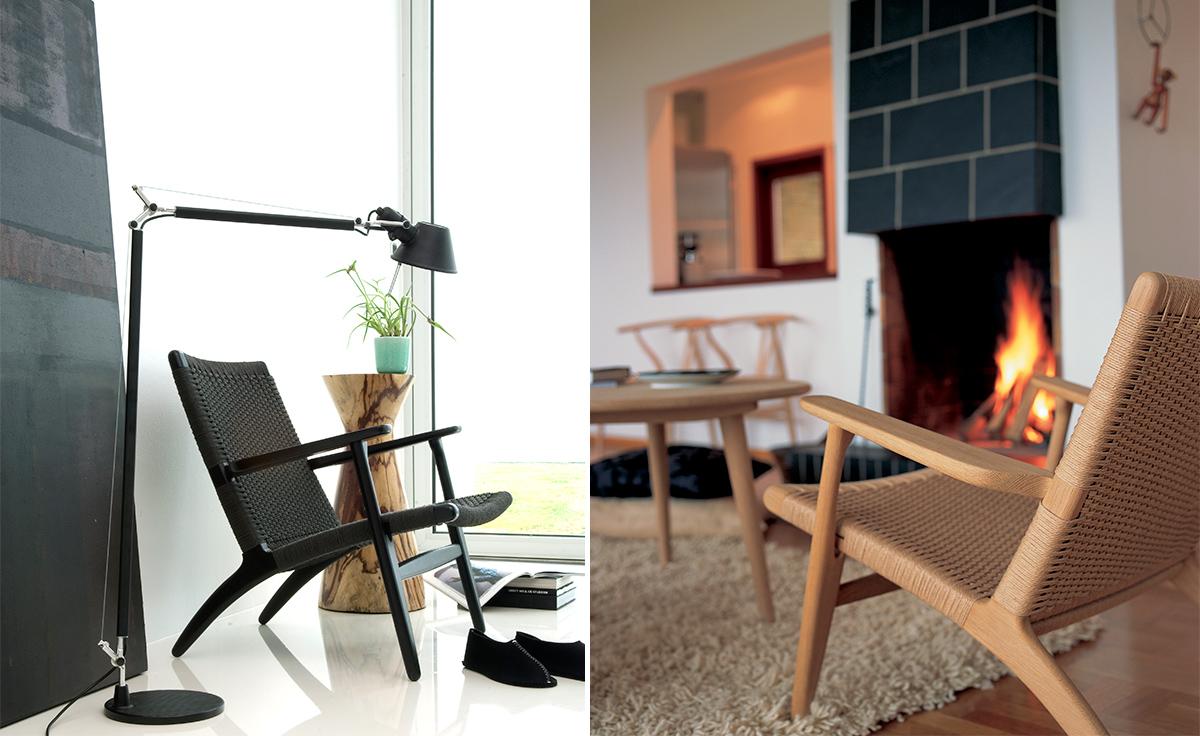 hans wegner rocking chair ski lift swing ch25 lounge - hivemodern.com