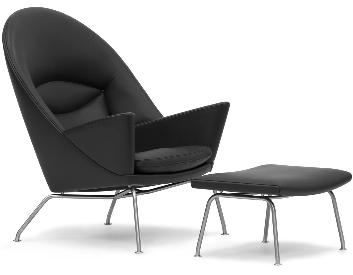 easy chairs with integral footrest childrens bean bag uk ch468 oculus lounge chair and ch446 hivemodern