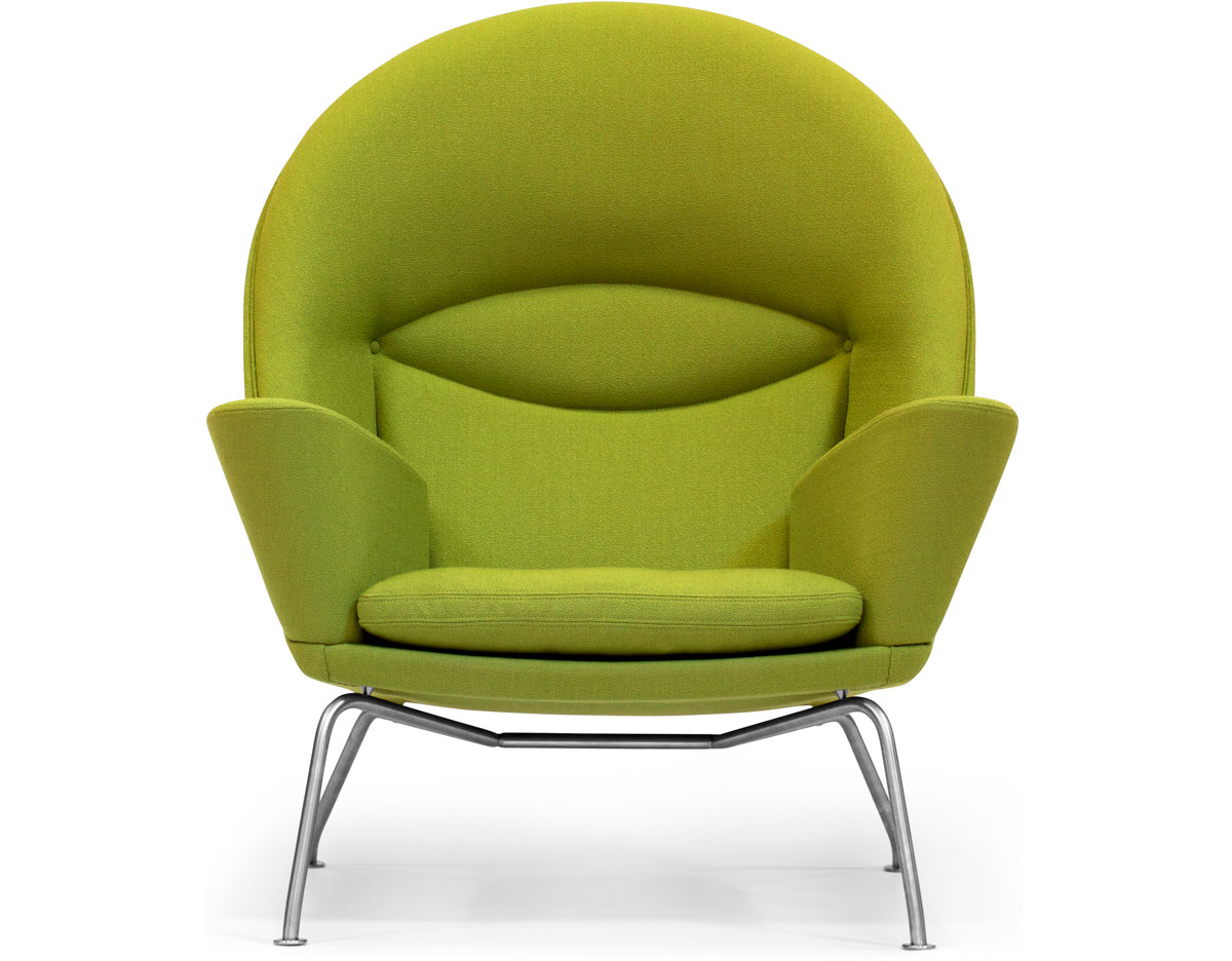 lime green bistro chairs dinner table and ch468 oculus lounge chair hivemodern