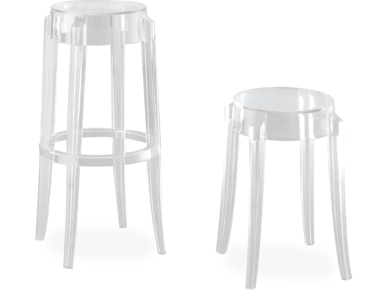ghost chair stool chairs with speakers charles 2 pack hivemodern