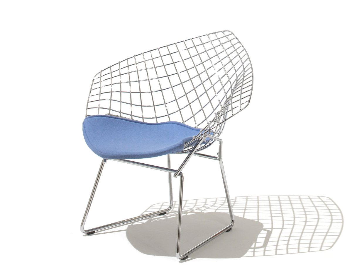 Harry Bertoia Chair Child 39s Diamond Chair With Seat Cushion Hivemodern