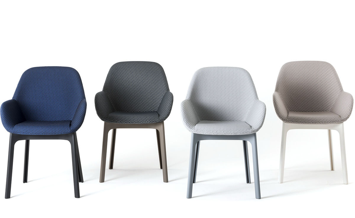 Clap Chair With Embossed Fabric  hivemoderncom