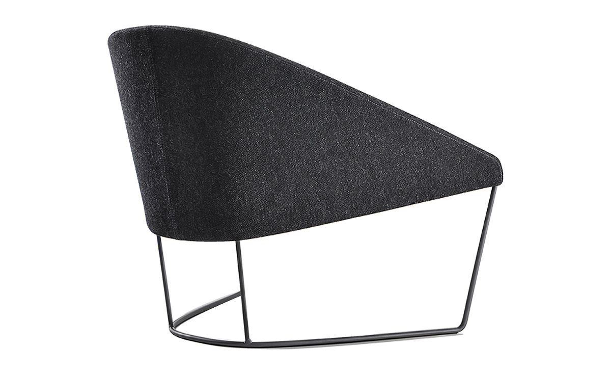 Colina Lounge Chair With Sled Base  hivemoderncom