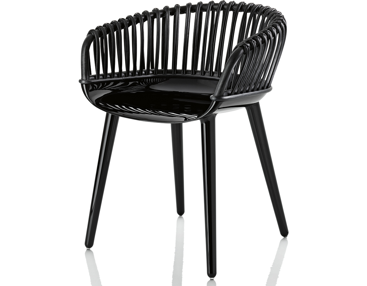 Magis Cyborg Club Armchair With Wicker Back  hivemoderncom