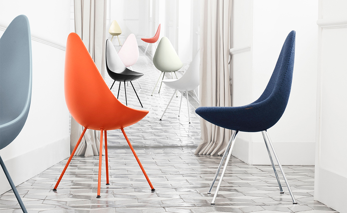 Drop Chair Upholstered  hivemoderncom