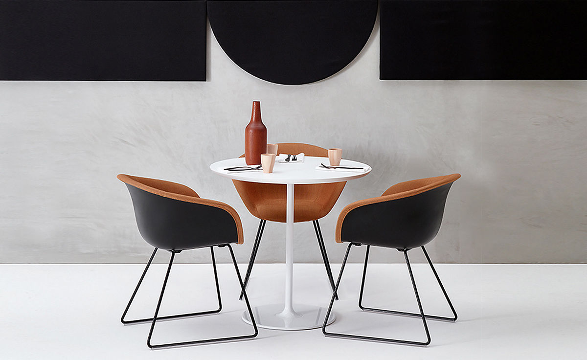 Duna 02 Sled Base Chair With Front Upholstery  hivemoderncom