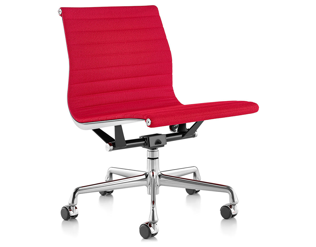 Office Chairs No Arms Eames Aluminum Group Management Chair With No Arms