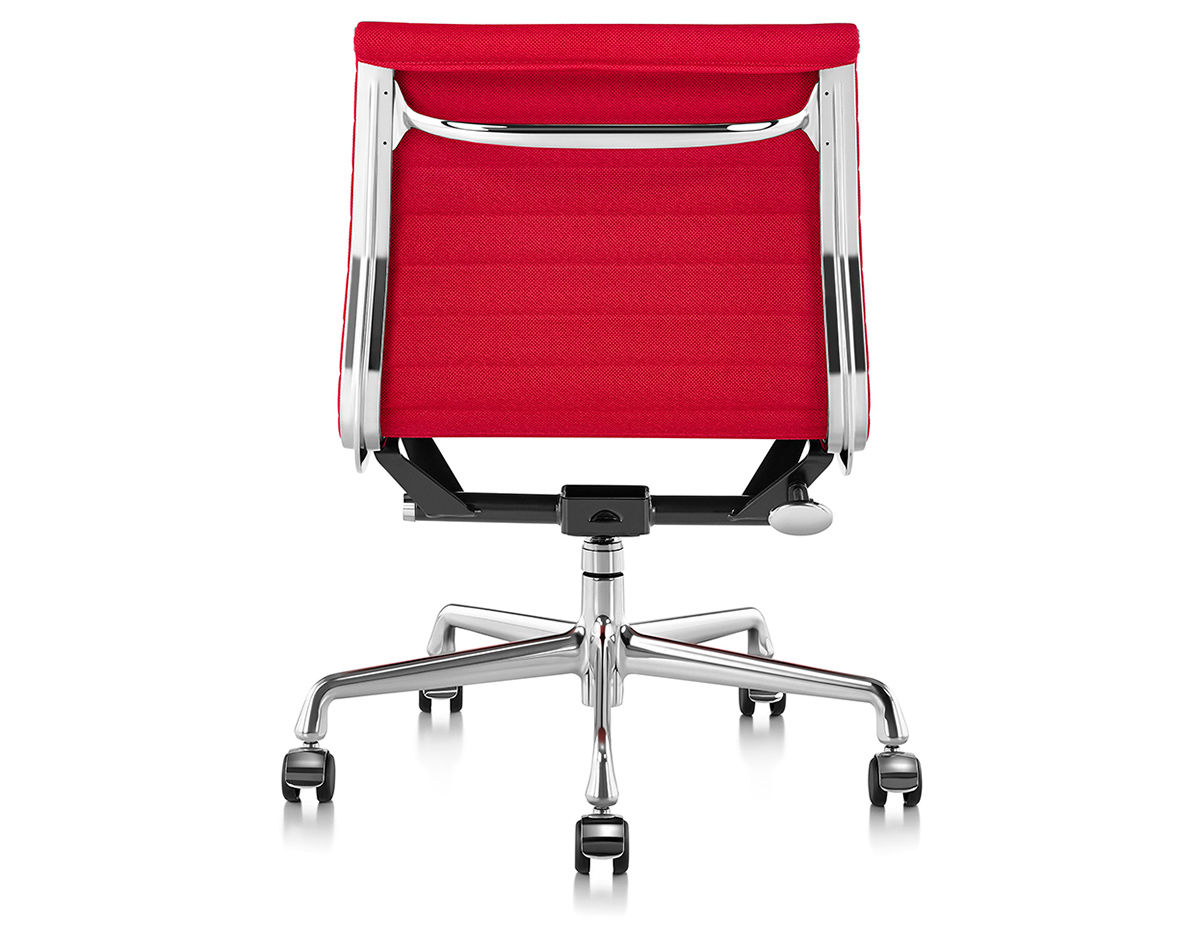 eames aluminum group management chair wheelchair gst with no arms
