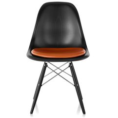 Eames Chair Cushion Cover Rentals Louisville Ky Dowel Base Wood Side With Seat Pad Hivemodern Com