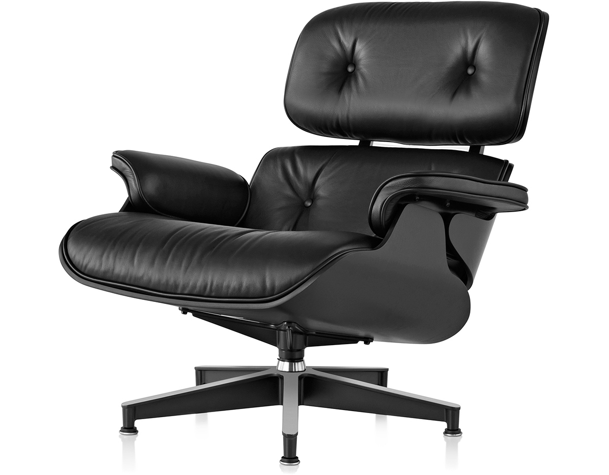 Ebony Eames Lounge Chair Without Ottoman  hivemoderncom