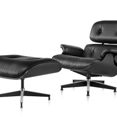 Eames Leather Chair Dining Desk Utm Ebony Eames® Lounge & Ottoman - Hivemodern.com