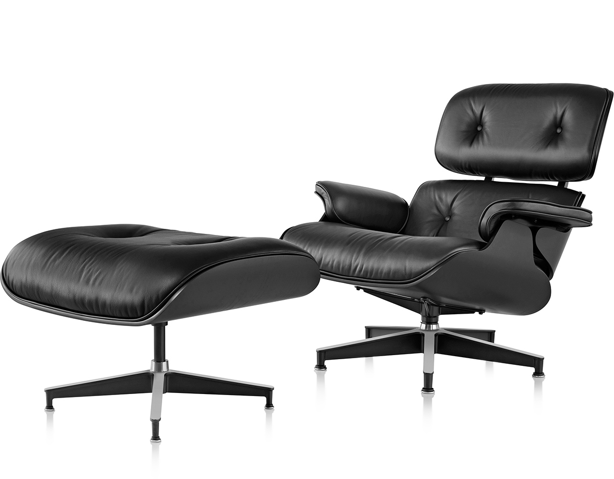 Herman Miller Eames Chair Ebony Eames Lounge Chair And Ottoman Hivemodern