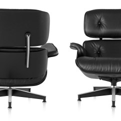 Herman Miller Stacking Chairs Chair Covers Round Ebony Eames® Lounge & Ottoman - Hivemodern.com