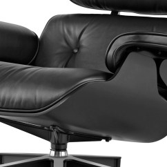 Black Eames Chair Covers In China Ebony Lounge Ottoman Hivemodern Com