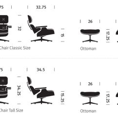 Herman Miller Chair Sizes Ikea Fold Away Table And Chairs Ebony Eames® Lounge & Ottoman - Hivemodern.com