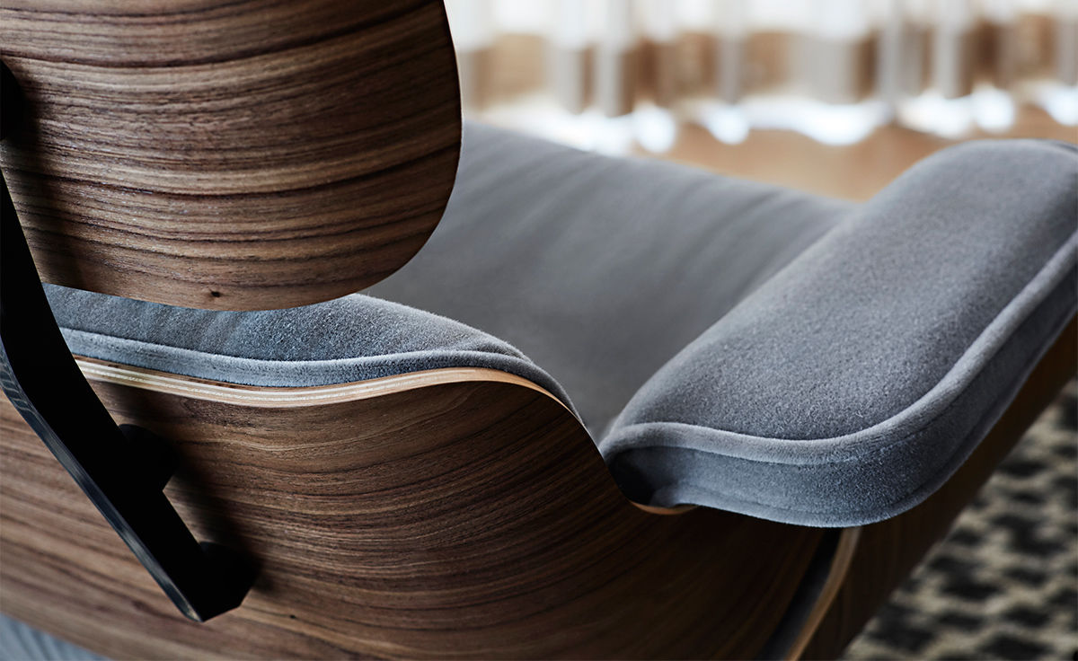 Eames Lounge Chair In Mohair Supreme  hivemoderncom