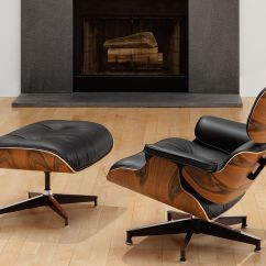 Office Lounge Chair And Ottoman Back Massager Eames Hivemodern Com