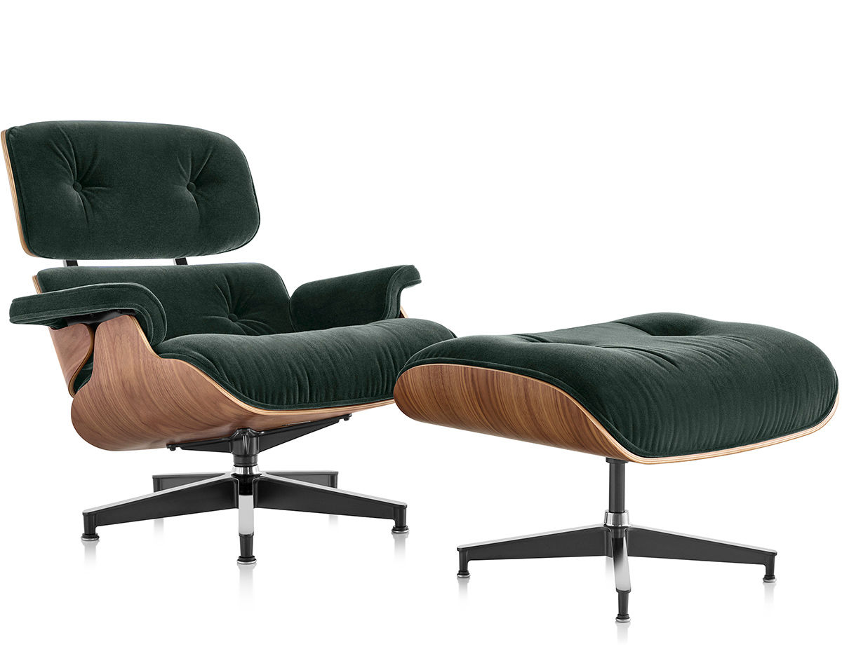 Eanes Chair Eames Lounge Chair Ottoman In Mohair Supreme