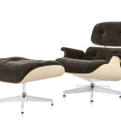 Aluminum Patio Chairs Desk Chair Teal Eames® Lounge & Ottoman In Mohair Supreme - Hivemodern.com
