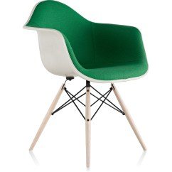 Eames Arm Chair Pub Style Chairs Upholstered Armchair With Dowel Base Hivemodern