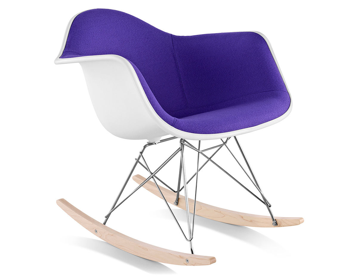 Eames Upholstered Armchair With Rocker Base  hivemoderncom