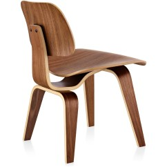 Eames Wood Chair Library Chairs Vintage Molded Plywood Dining Dcw Hivemodern