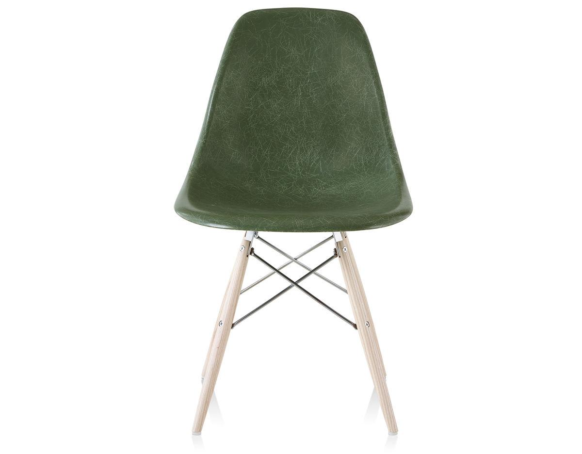 Eames Molded Fiberglass Side Chair With Dowel Base