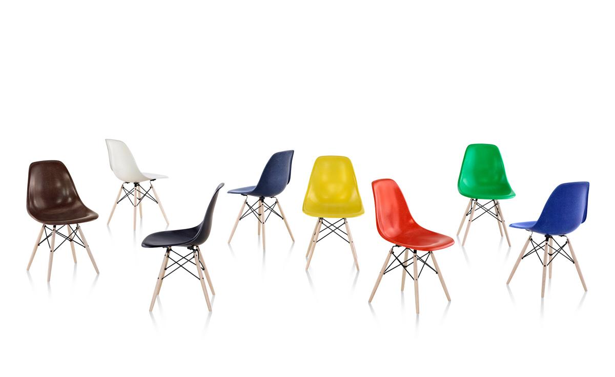 fiberglass shell chair rail home depot eames molded side with dowel base hivemodern com