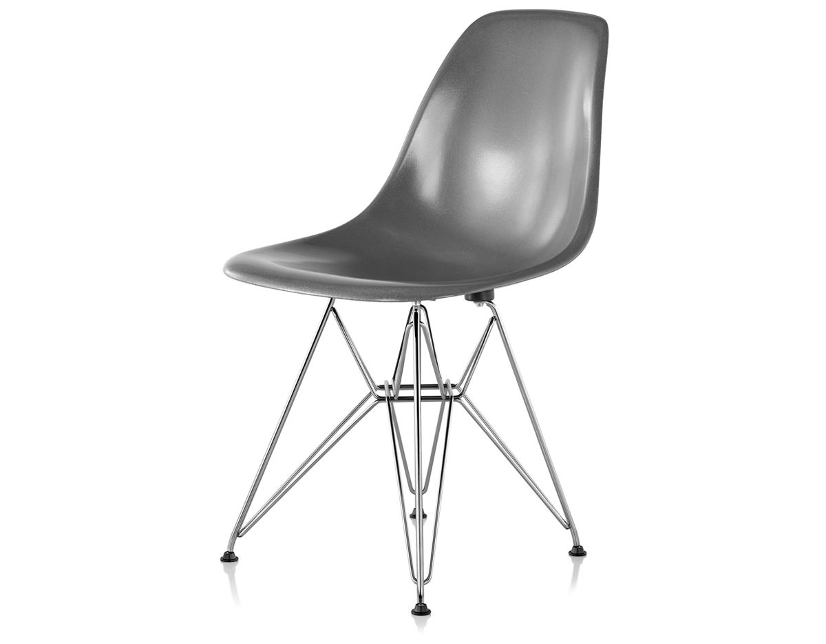 eames chair herman miller covers crushed velvet molded fiberglass side with wire base hivemodern com by from