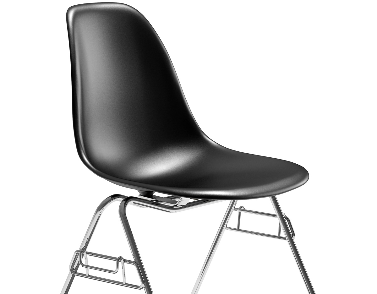 Plastic Stacking Chairs Eames Molded Plastic Side Chair With Stacking Base