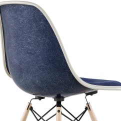 Eames Molded Side Chair Posture Meaning Eames® Upholstered With Dowel Base - Hivemodern.com
