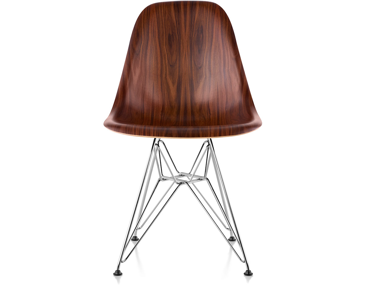 eames wood chair childrens rocking and footstool molded side with wire base hivemodern