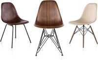 Eames Molded Wood Side Chair With Wire Base - hivemodern.com