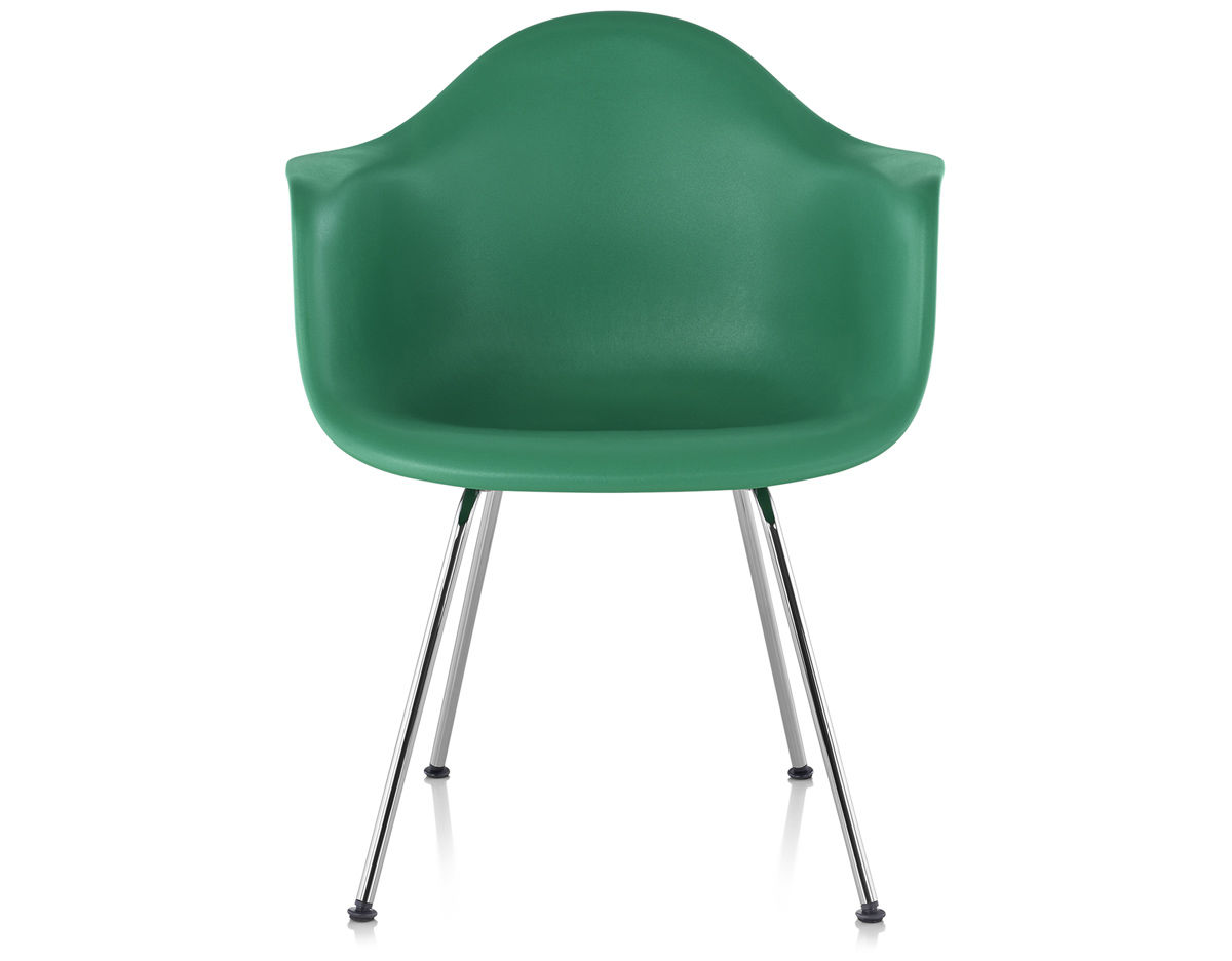 plastic molded chairs how to fold up a cosco high chair eames armchair with 4 leg base