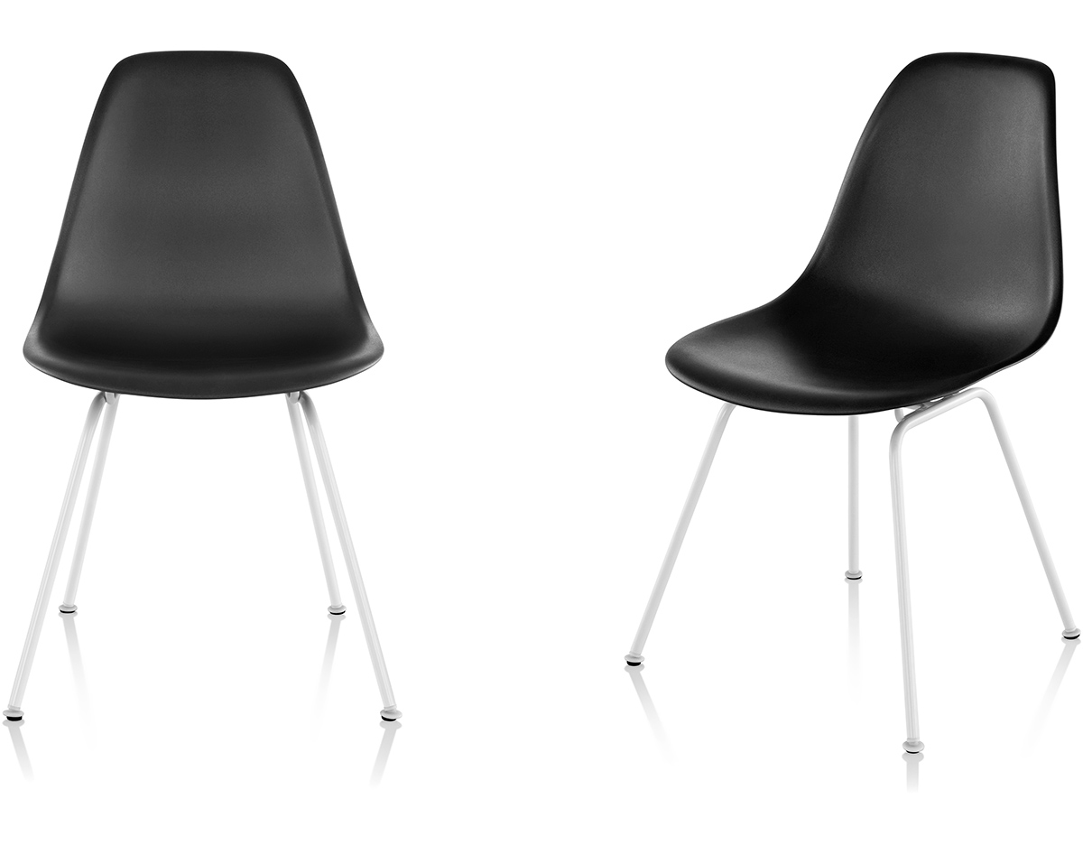 eames molded side chair office staples plastic with 4 leg base