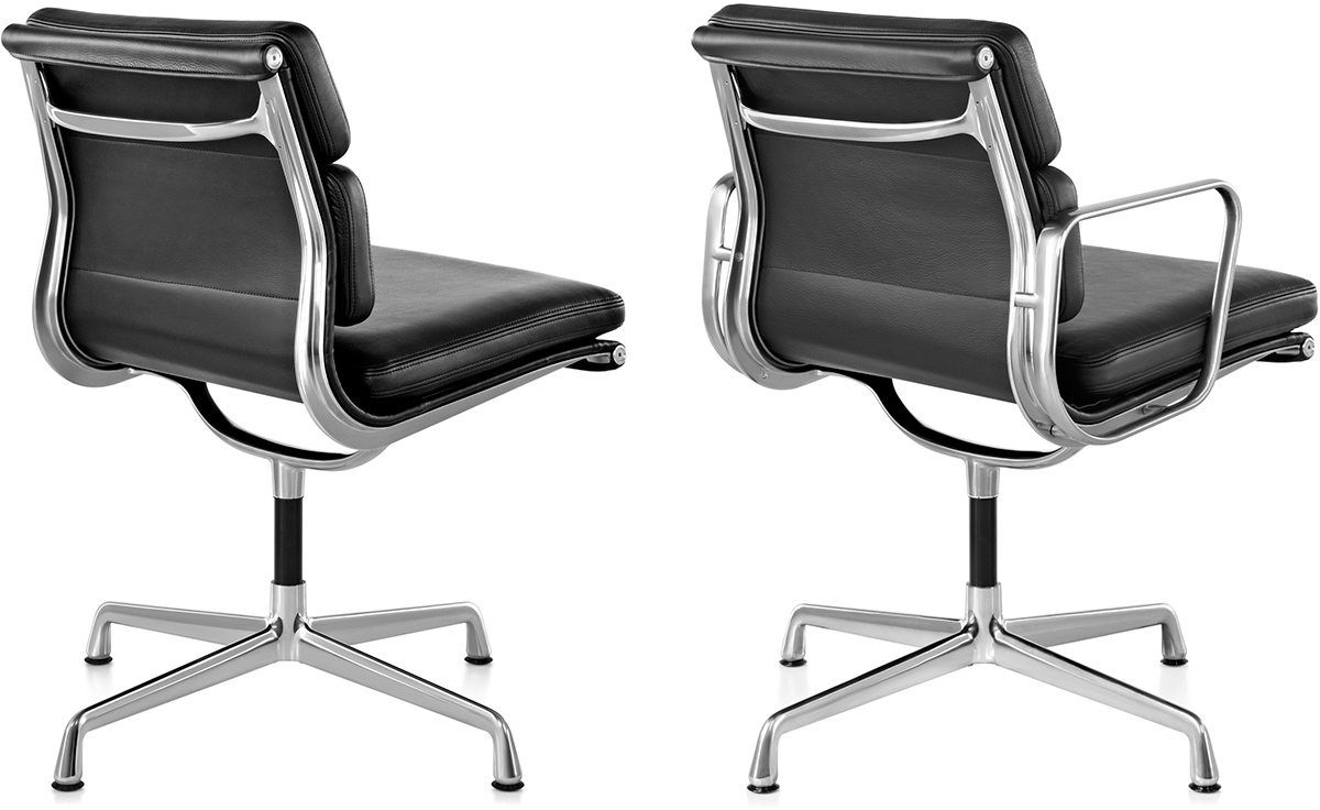 herman miller leather chair gravity lawn eames® soft pad group side - hivemodern.com