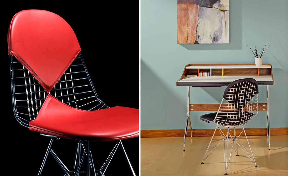 Eames Wire Chair With Bikini Pad  hivemoderncom