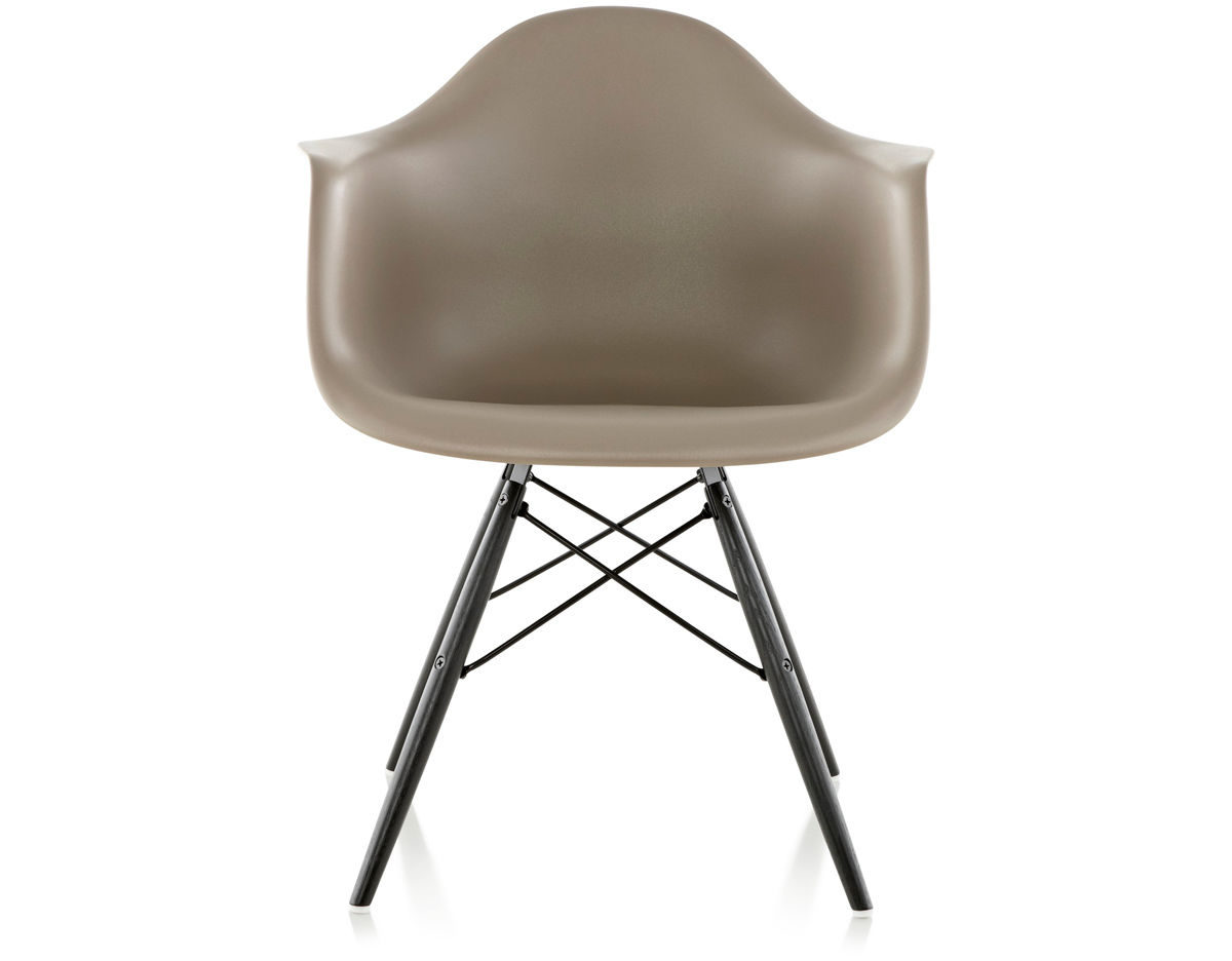 eames arm chair modern directors molded plastic armchair with dowel base hivemodern com