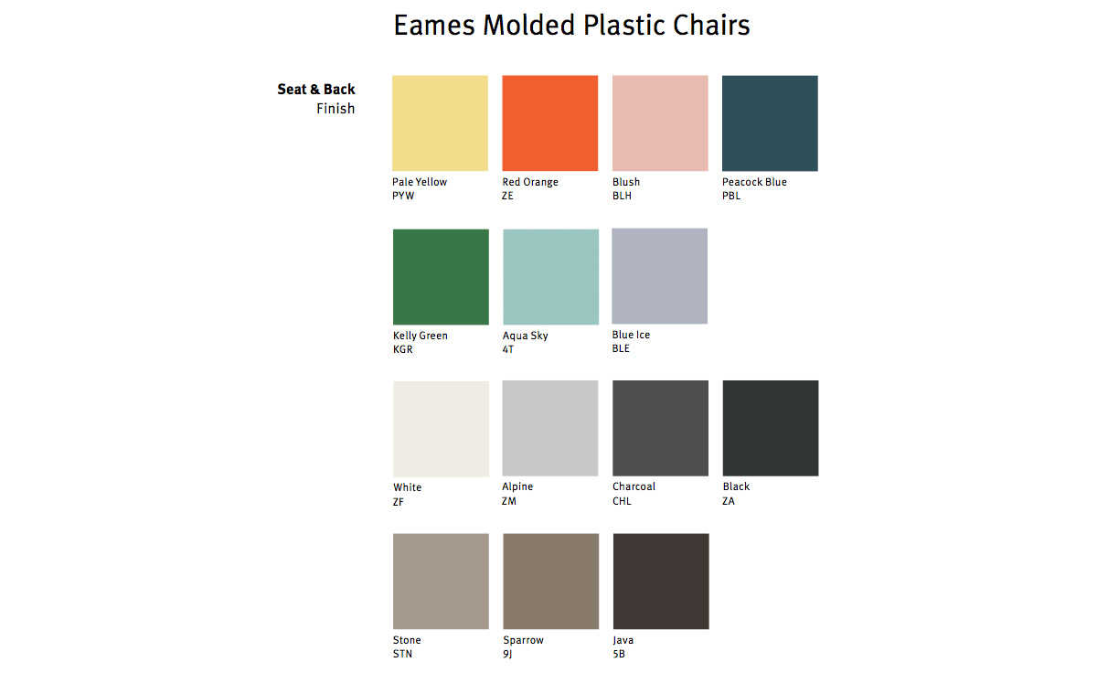 Eames Molded Plastic Armchair With Rocker Base