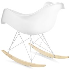 Hard Plastic Outdoor Rocking Chairs Chair Cover Hire Belfast Eames Molded Armchair With Rocker Base Hivemodern Com