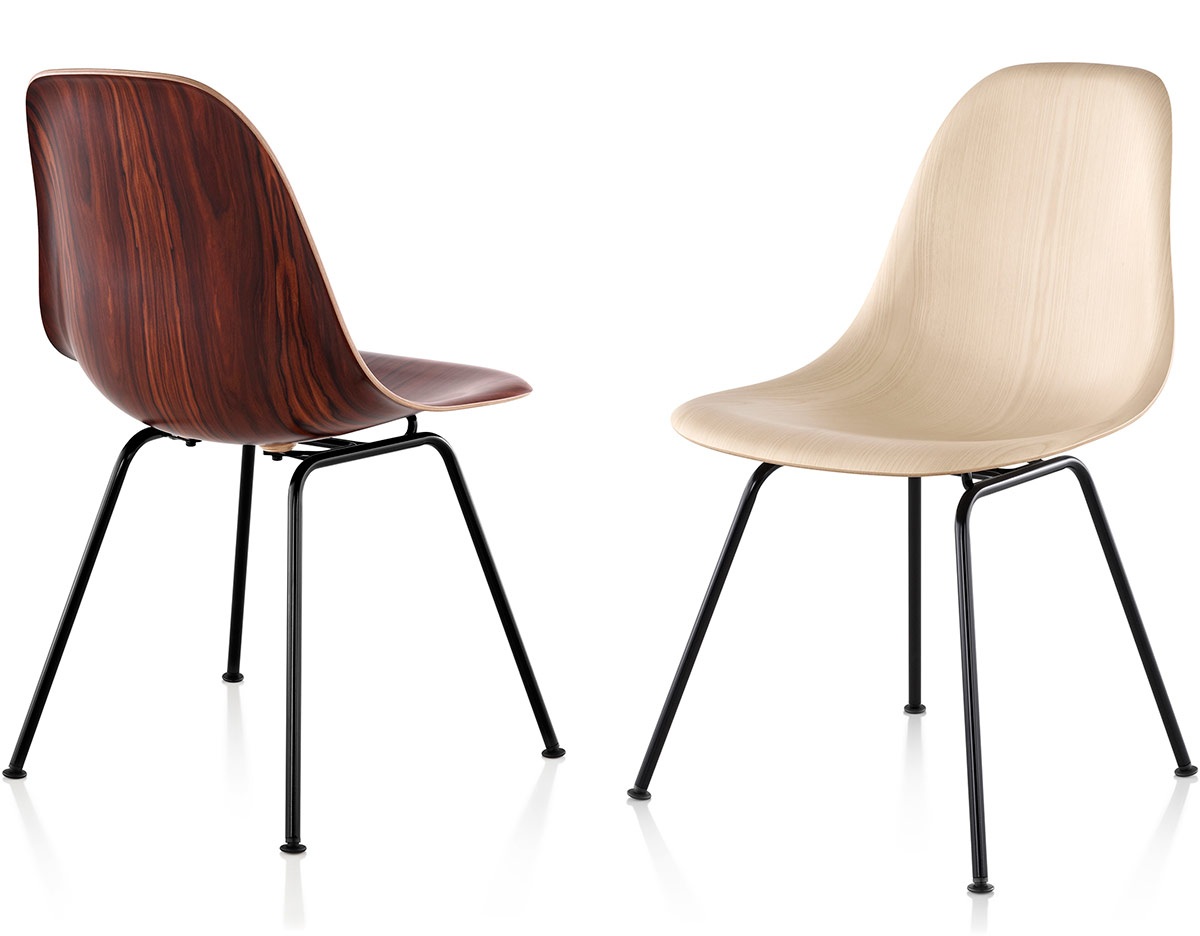eames molded wood side chair z covers with 4 leg base hivemodern