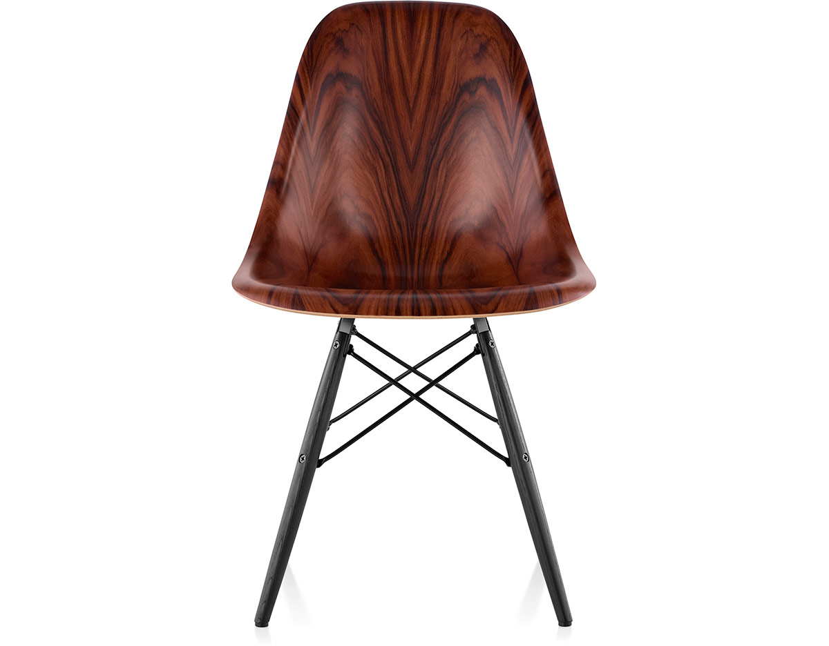 eames molded wood side chair white and chairs with dowel base hivemodern