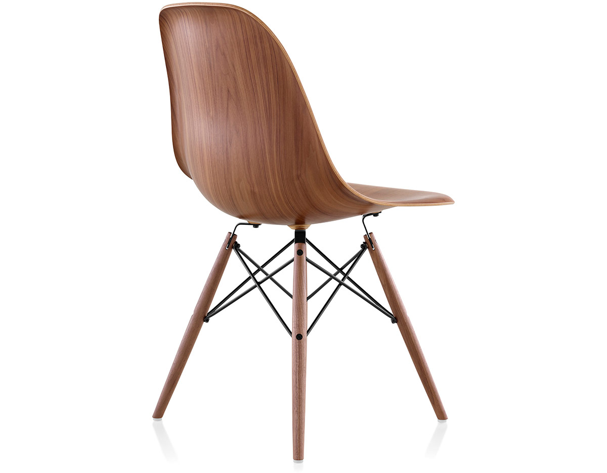 eames wood chair and a half rocker with ottoman molded side dowel base hivemodern